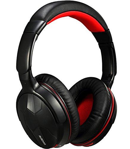 AUSDOM M04S bluetooth 4.0 密閉型 ヘッドホン ワイヤレス ステレオ ヘッドフォン 有線可能 NFC搭載 ( ブラック+レッド )