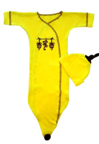 Going Bananas Preemie Bunting Gown Set 3-6 Pounds