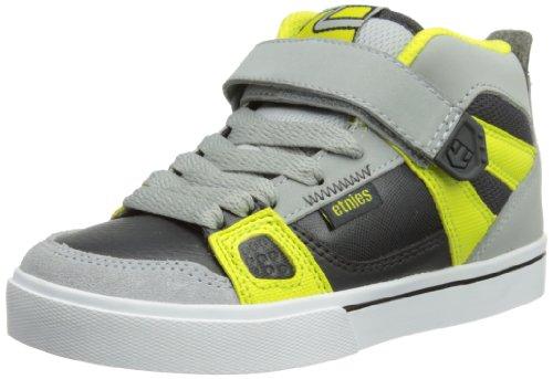 Etnies Decade Skate Shoe (Toddler/Little Kid/Big Kid),Grey/Yellow,5 D Us Big Kid
