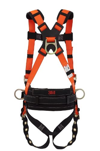 3M Feather 1052 Orange Small/Medium Vest-Style Back Padding Body Harness - Polyester Webbing - 70071535614 [Price Is Per Case] front-944258