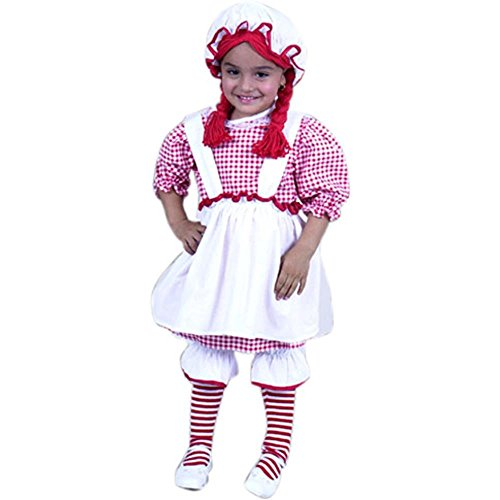 Child's Toddler Raggedy Ann Halloween Costume (2-4T)