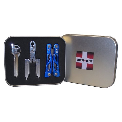 Swiss+Tech ST20023 Gift Box Set of Key Ring Multi-Function