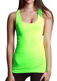 Nikibiki Women's Nylon Plain Jersey Tank Top Shirt