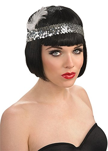 Green Sequin Flapper Headpiece