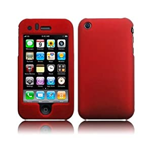 Xylo Red Hybrid Armor Hard Shell / Skin / Case for the iPhone 3G & 3GS Mobile Phone.