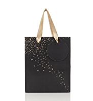 Black & Gold Speckled Small Gift Bag