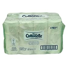 "Kimberly-Clark Kleenex Cottonelle 07001 Coreless Standard Roll Bath Tissue, 4"" Length x 4-25/64"" Width, White (36 Rolls of 800)"