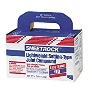 Sheetrock Lightweight Setting Type Drywall Joint Compound-4LB EASY SAND90 COMPOU