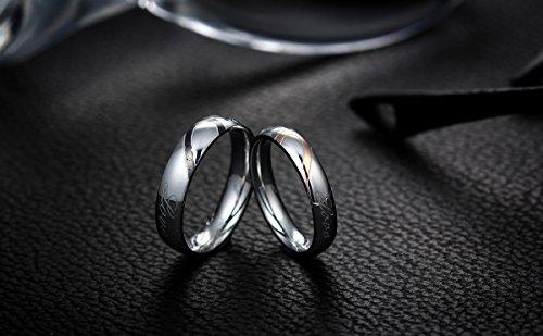 JewelryWe Lovers Heart Shape Stainless Steel Ladies Promise Ring ...