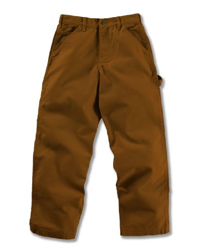 Carhartt Baby Washed Canvas Dungaree (3M-24M) Carhartt Brown, 18 Months front-972883