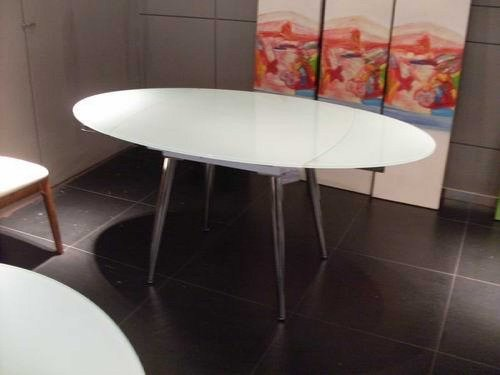 Vig Furniture Brunch Extend-Able White Table