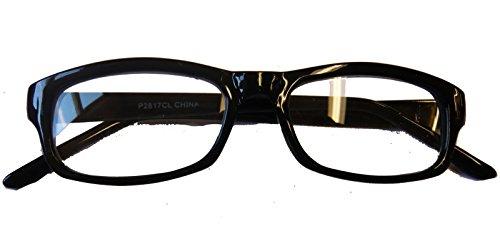 2817/24 (Black) Square Frame Eyeglasses With Clear Lenses