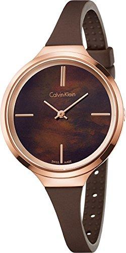 De silicona reloj de pulsera para mujer de Calvin Klein K4U236FK