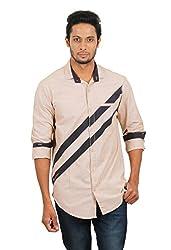 Rapphael Men's Full sleeve Casual Shirt -Beige