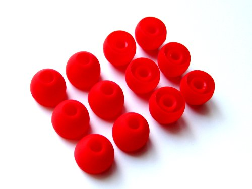12Pcs: Large (L) Red Replacement Eartips Earbuds For Monster Beats Dr. Dre Tour, Powerbeats, Urbeats 2.0, Heartbeats 2.0 (Lady Gaga), Diddybeats And Turbine Pro, Gratitude, Dna, Diesel Vektr, Isport Victory, Isport Immersion, Inspiration, Claritymobile, N