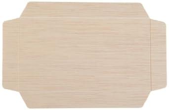 PacknWood 210SAMLB85 Samurai Wooden Lid, 3.3-Inch x 6.1-Inch x 0.8-Inch High (Case of 100)