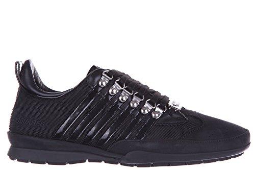 Dsquared2 Herrenschuhe Herren Leder Schuhe Sneakers 251 Schwarz EU 42 S16SN131 081 2124 thumbnail