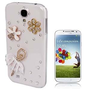 Ballet Girl Pattern Diamond Encrusted Plastic Case for Samsung Galaxy S4 / i9500