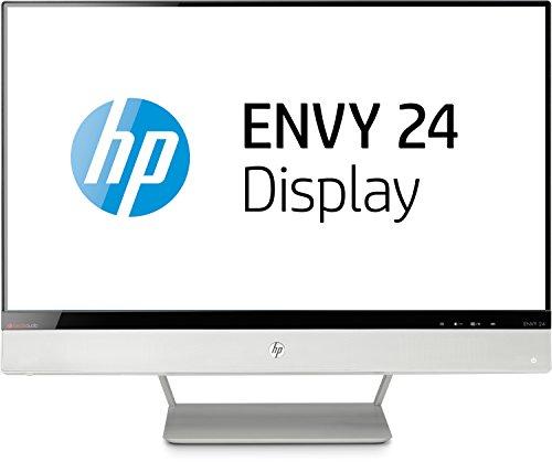 HP Envy 24 IPS-LED (E5H53AA#ABB) 60,5 cm (24 Zoll) Monitor mit BeatsAudio(VGA, MHL, HDMI, Full HD, 7ms Reaktionszeit, BeatsAudio) weiß