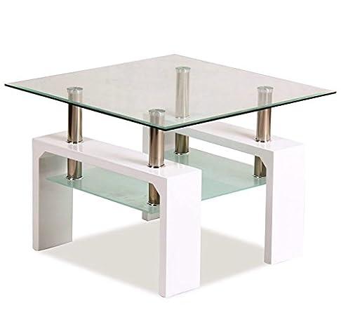 Letti e Mobili - Tavolino Lasse II bianco 60x60cm