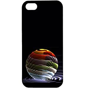 Casotec Colorful Ballon Stripes Design Hard Back Case Cover for Apple iPhone 5 / 5S