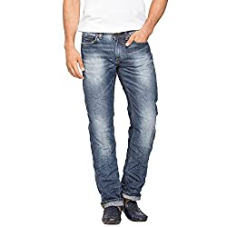 Spykar Mid Blue Low Rise Narrow Fit Jeans (Renegade)