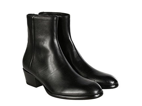 maison-martin-margiela-womens-black-leather-ankle-boots-booties-shoes-size-10-us