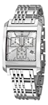 Big Sale Burberry Men's BU1560 Square Silver Chronograph Dial Watch