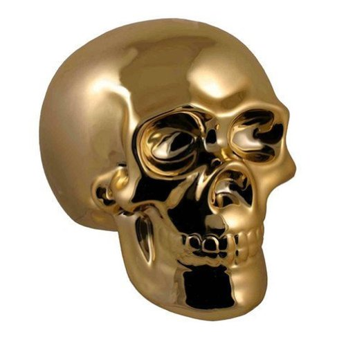 Streamline Golden Skull Money Bank