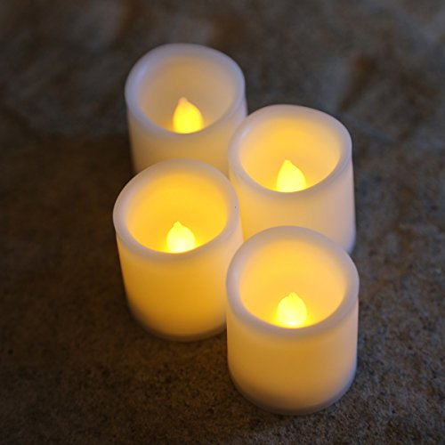 Flameless Battery Powered LED Votive Candles (4 Pack)
