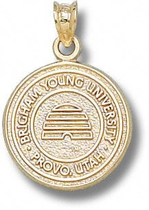BYU Cougars Solid 10K Gold Seal Pendant