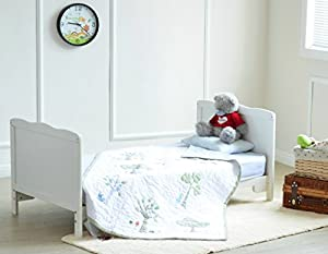 Solid Wooden Baby Cotbed Cot Bed Toddler with Top Changer & Premier Water repellent Mattress Made in England by mcc