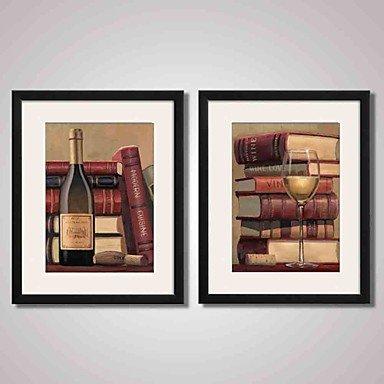 XGHC Abstracto / Bodegón / Día Festivo / Ocio / Comida/Bebida Impresión de arte enmarcada / Lienzo enmarcado / Conjunto enmarcadoArte de la