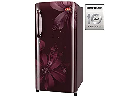 LG GL-B221ASAN.DSAZEBN Direct-cool Single-door Refrigerator (215 Ltrs, 5 Star Rating, Scarlet Aster)