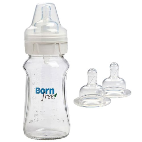 Born Free Bpa-Free 9 Oz. Single Glass Bottle Nurser With Cereal Y-Cut Nipples front-692314
