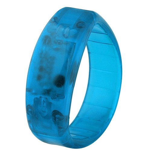 Jovivi Led Sound Activated Light Glow Bracelet Wristband Bangle Party Disco Bar Gift - Blue