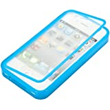 kwmobile TPU Silikon Hülle für Apple iPhone 4 / 4S - Full Body Protector Cover Komplett Schutzhülle Case in Hellblau
