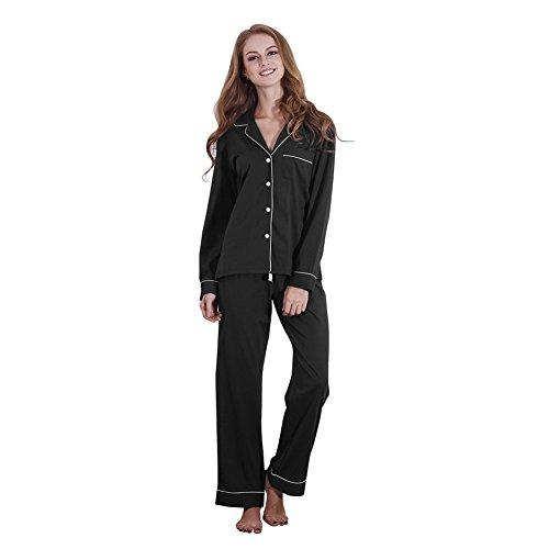 FeelinGirl Comfort Sleepwear Pajama Set Lightweight Soft Sleep Set