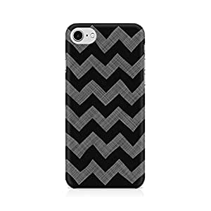 NXT GEN Cheveron Shades of Grey Premium Printed Mobile Back Case Cover For Apple iPhone 7