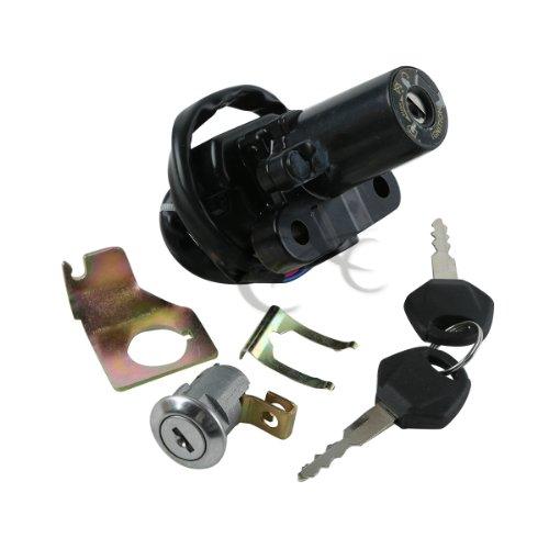 Tengchang Ignition Switch Lock Keys For Yamaha YZF R6S 2006-2009 YZF R1 2002-2003 YZF FZ6 FZ6S FZ6N 2004-2010 YZF R6 2006-2011 YZF R1 2007-2011 FJR1300 2001-2010 (2008 Yamaha R1 Ignition Switch compare prices)