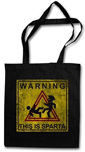 warning-this-is-sparta-sign-reutilisable-pochette-sac-de-courses-en-coton-hipster-reusable-shopping-