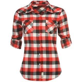 Lee cooper flannel shirt ladies red black white 12 m for Red black and white flannel shirt