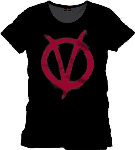 V for Vendetta T-Shirt Logo black Size XL CODI