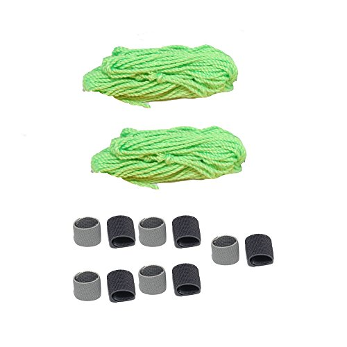 Blackcell 20 Yoyo String (Green) and 10pcs finger Sleeve - 1