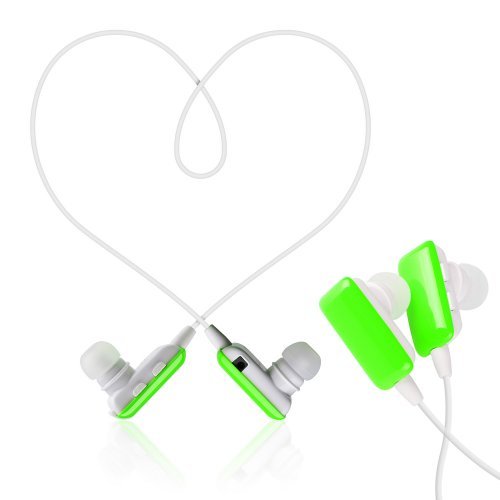Victsing Mini Lightweight Wireless Stereo Sports/Running Earphones Bluetooth Earbuds Headphones Headsets W/Microphone For Iphone 5S 5C 4S 4, Ipad 2 3 4 New Ipad Ipod Samsung Galaxy S4 S3 S2 Note 3 2 Android Smart Phones Bluetooth Devices - Green
