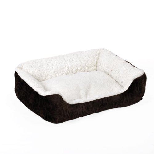 "Sofantex Luxury Microfiber Pet Bed (22"" L x 18"" W x 8"" H, Brown)"