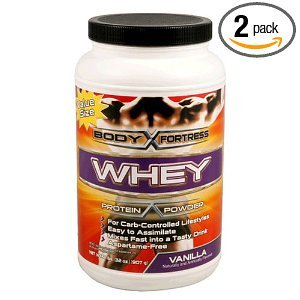 3 Jars-Body Fortress Super Advanced Whey Protein Powder Vanilla 2 Lbs (907 G) Each Jar