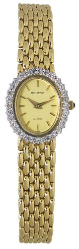 Geneve 14K Solid Gold Diamond Women's Watch - W20800