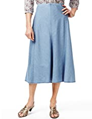 Classic Collection Pure Cotton Panel Design Denim Skirt