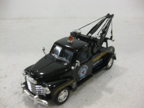 1953 Chevrolet 3100 Wrecker In Black Diecast 1:38 Scale By Kinsmart
